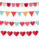 Vector bunting and garland set - GraphicRiver Item for Sale