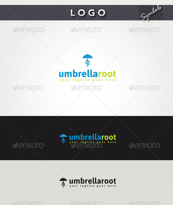 Umbrella Root Logo - Symbols Logo Templates