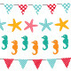 Marine bunting and garland set.  - GraphicRiver Item for Sale