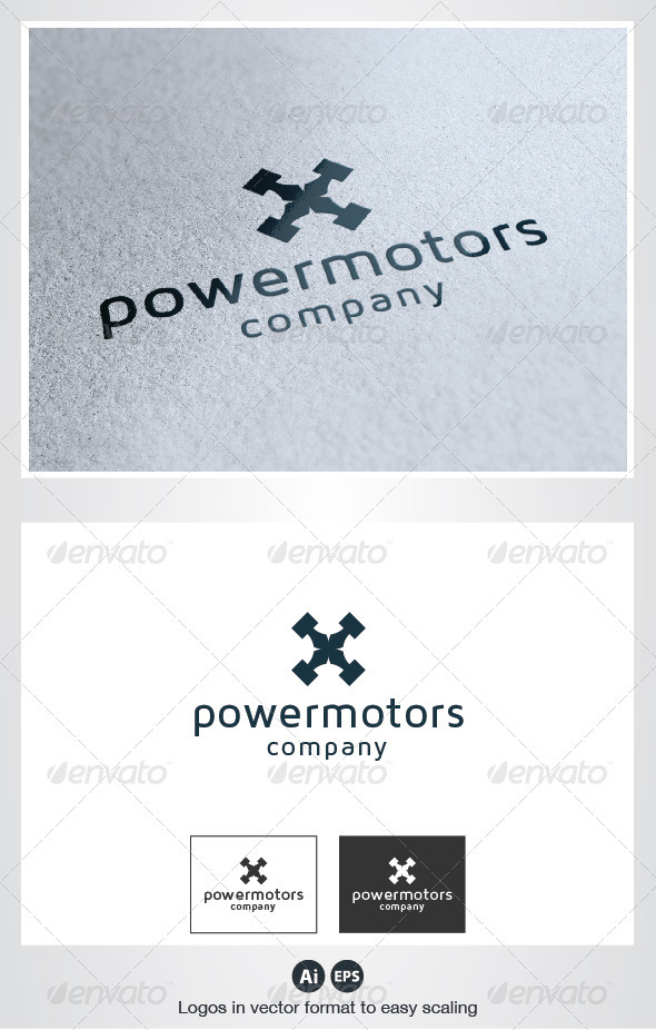 Power Motors Logo - Symbols Logo Templates