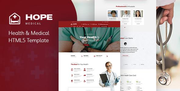 Wondrous Hope - Health & Medical HTML5 Template