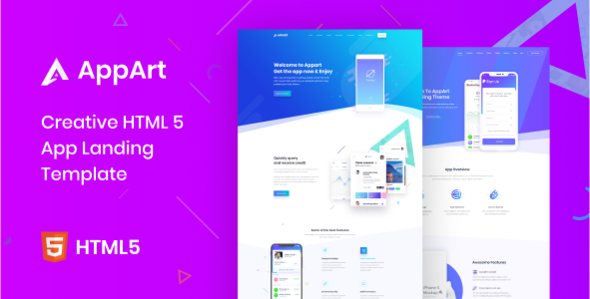 Excellent AppArt - Creative HTML Template For Apps