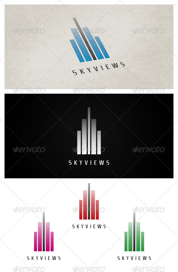 Skyviews - Buildings Logo Templates
