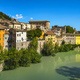 Fossombrone village and and river Metauro. Marche, Italy. - PhotoDune Item for Sale