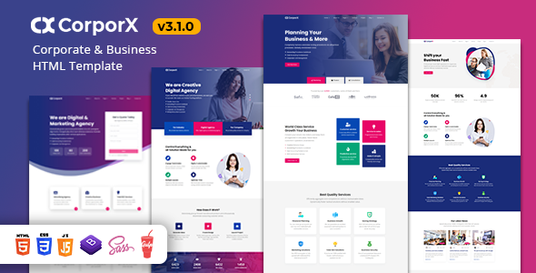CorporX - Corporate and Business HTML Template