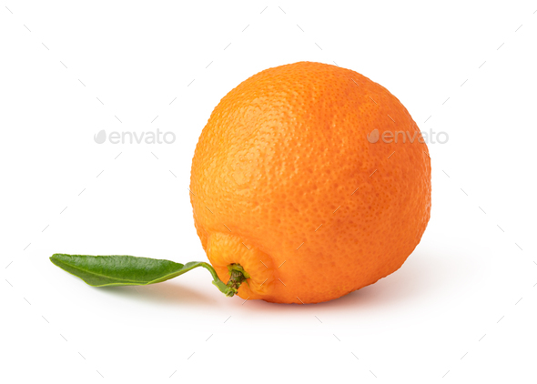 Ripe mandarines on a white background - Stock Photo - Images