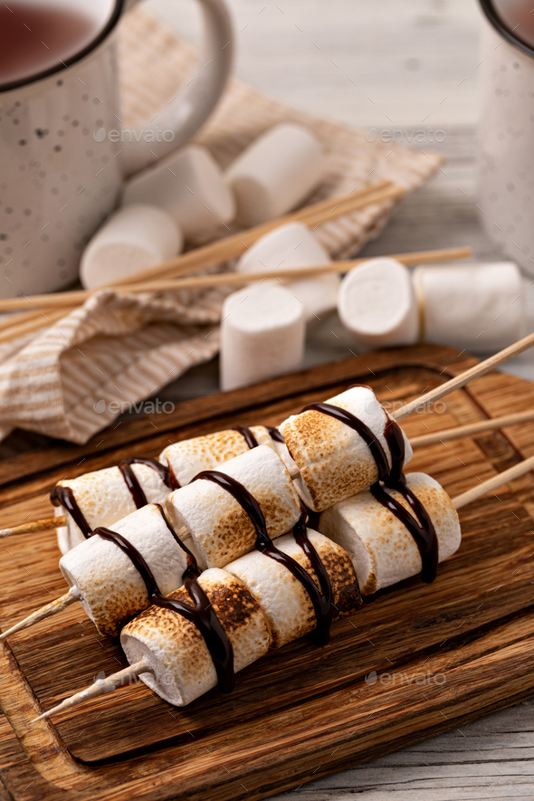 marshmallow on table - Stock Photo - Images