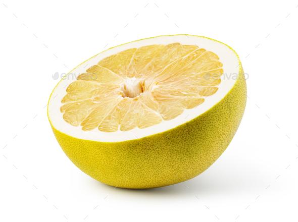 Pomelo fruit on white background - Stock Photo - Images