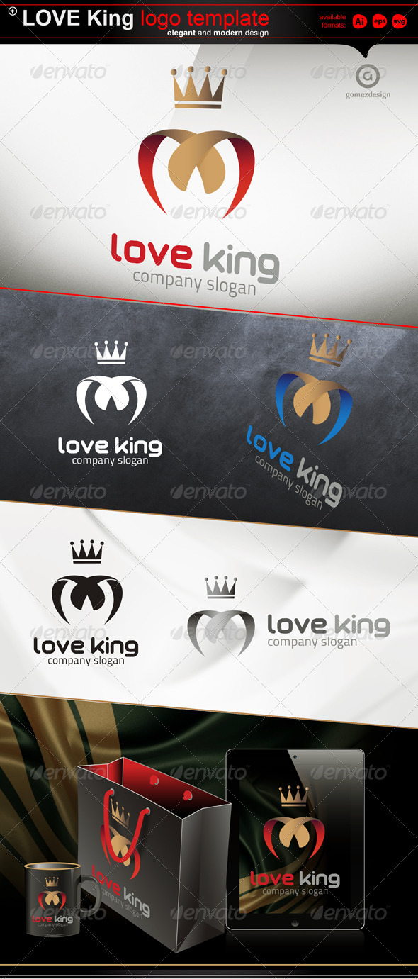 Love King - Logo Templates