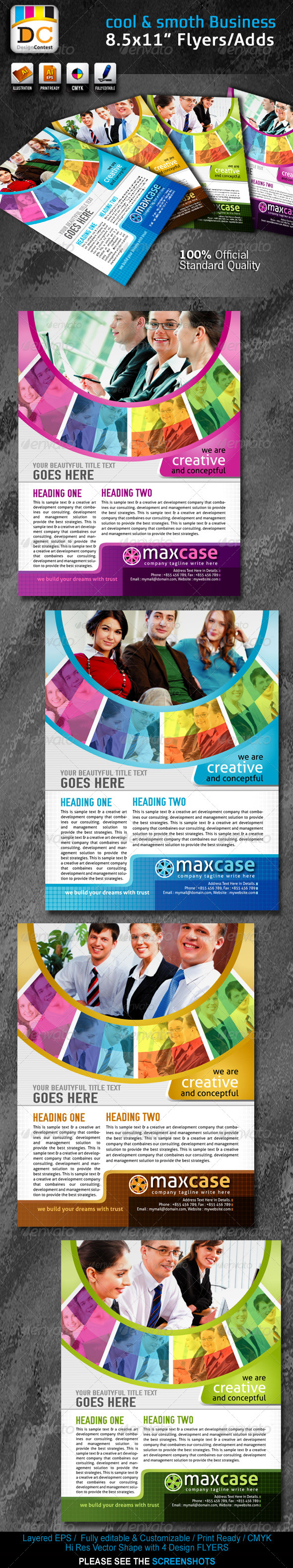 Cool & Smooth Corporate Business Flyers/Adds - Corporate Flyers