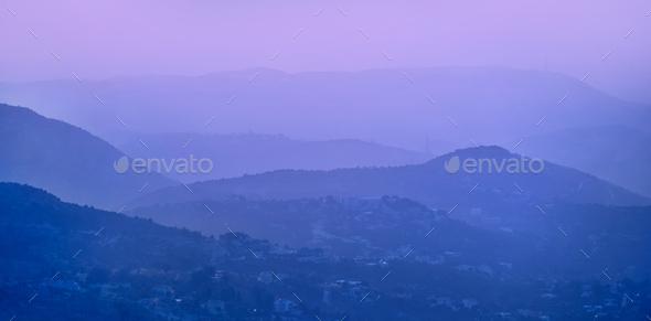 Beautiful mountainous landscape - Stock Photo - Images