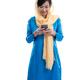muslim young woman using mobile phone - PhotoDune Item for Sale