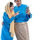 muslim couple talk to family using smartphone - PhotoDune Item for Sale