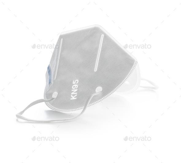 KN95 face mask. FFP2 mask as covid-19 protection. Coronavirus mask. - Stock Photo - Images
