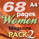 68 Pages Women Magazine Pack 2 - GraphicRiver Item for Sale