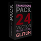 Glitch Transitions Pack 4K - VideoHive Item for Sale