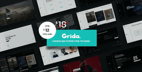 Grida – Creative Agency Ajax Portfolio & personal HTML Template