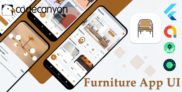 Flutter Furniture app UI template