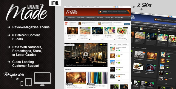 Made – Responsive Review/Magazine Site Template