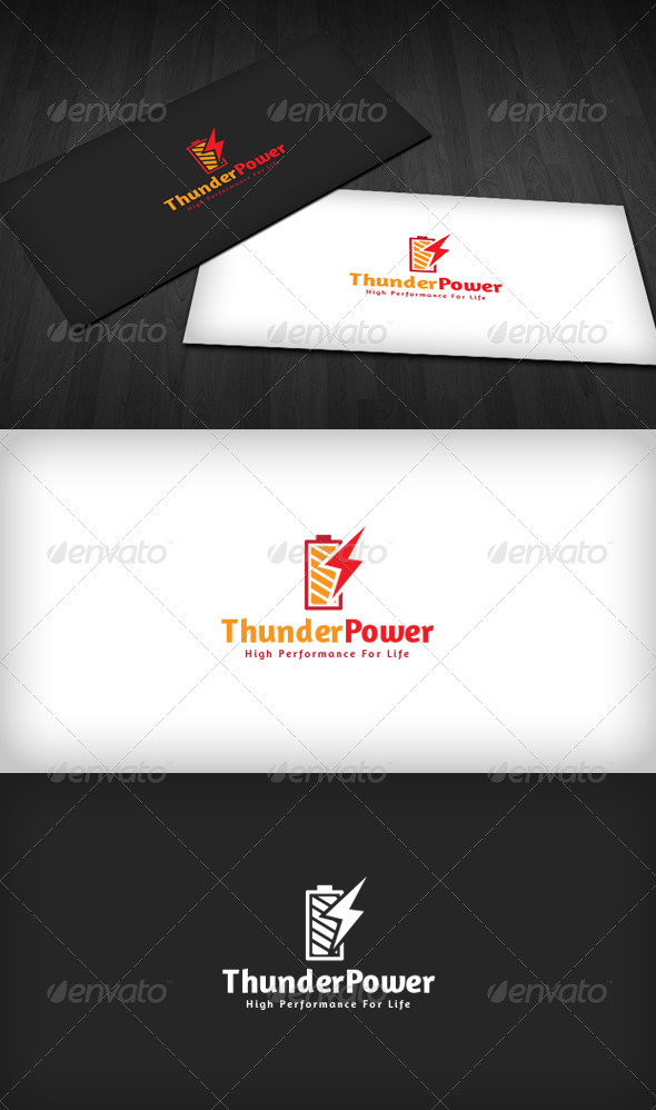Thunder Power Logo - Symbols Logo Templates