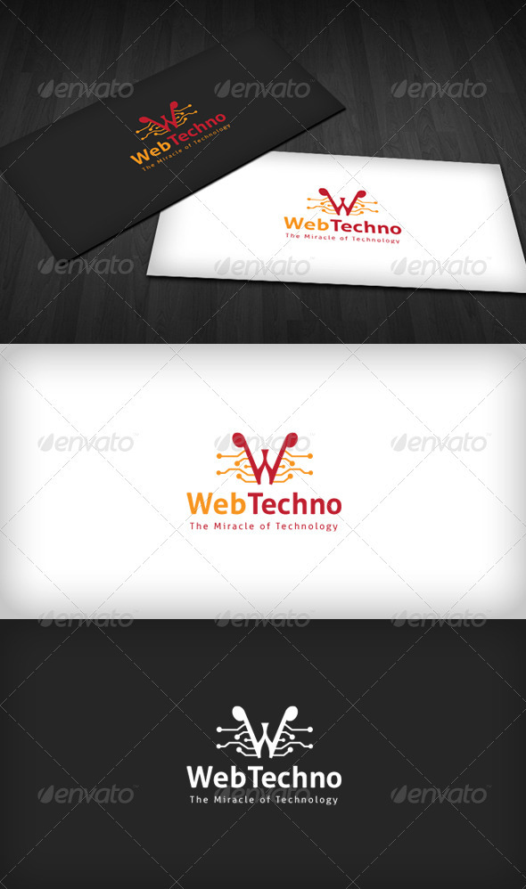Web Technology Logo - Letters Logo Templates