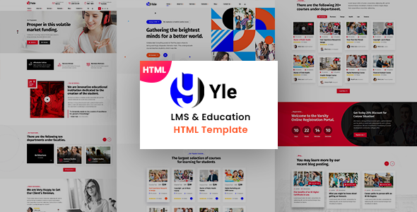 Special YLE - Education & LMS HTML Template