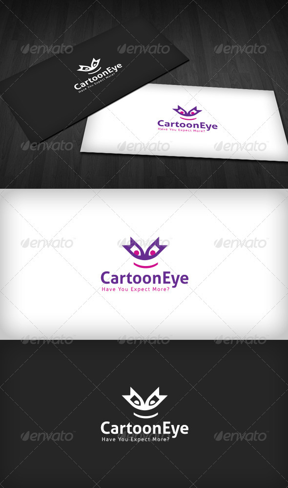 Cartoon Eye Logo - Vector Abstract