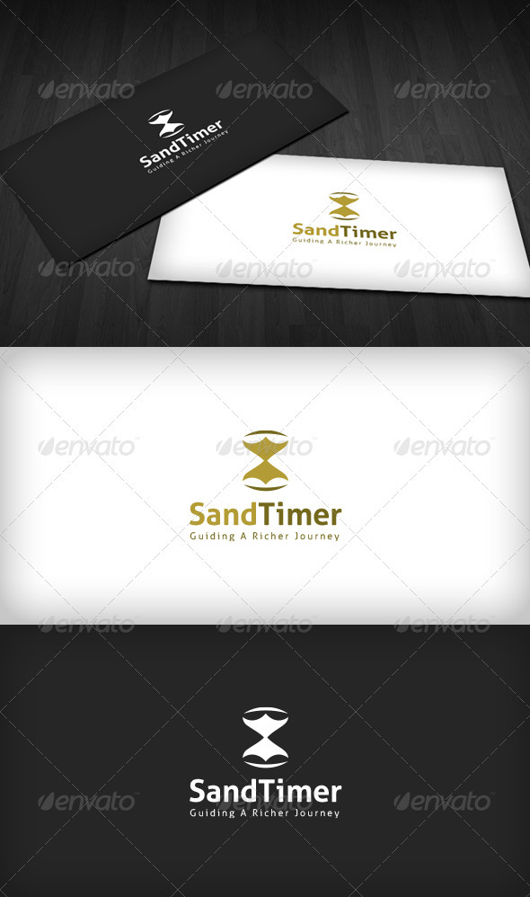 Sand Timer Logo - Vector Abstract