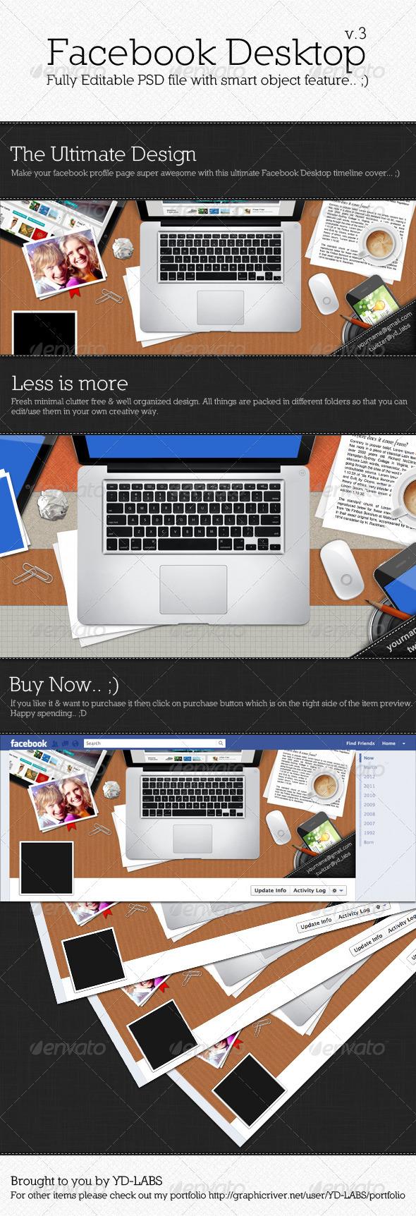 Facebook Desktop V3 - Facebook Timeline Covers Social Media