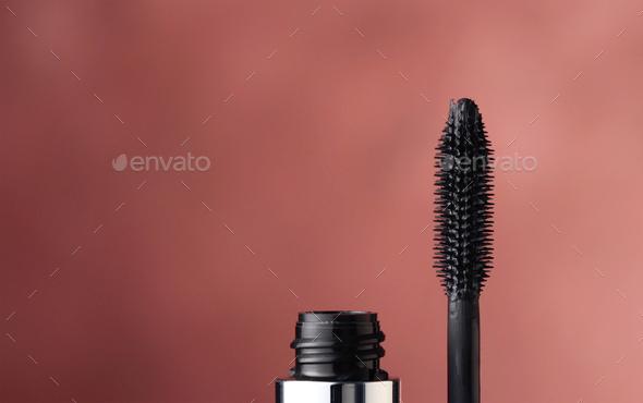 close up of black mascara - Stock Photo - Images