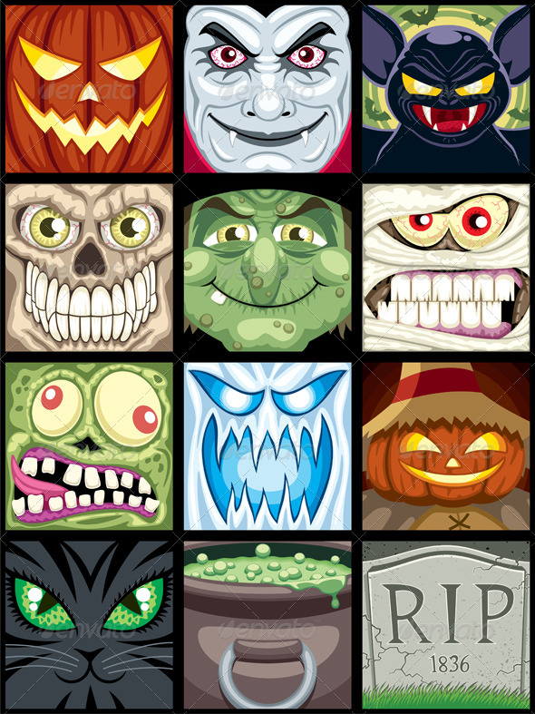 Halloween Avatars  - Characters Vectors