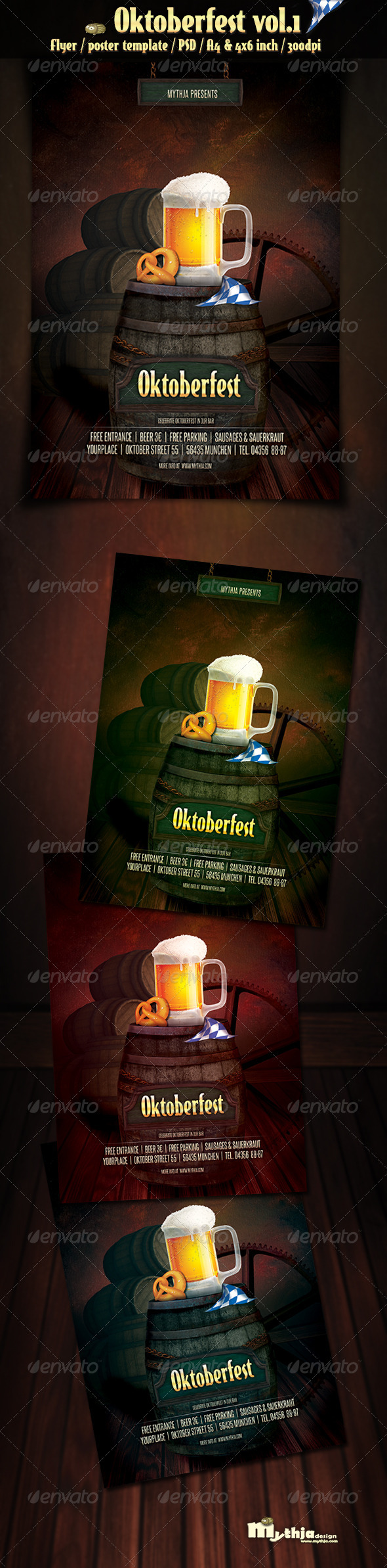Oktoberfest Vol.1 - Party Flyer/Poster - Clubs & Parties Events