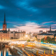 Stockholm, Sweden. Scenic View Of Stockholm Skyline At Summer Sunset. Riddarholm Church And Subway - PhotoDune Item for Sale
