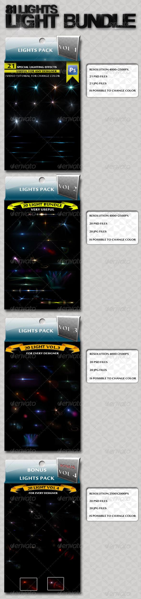 81 Light Bundle  - Decorative Graphics