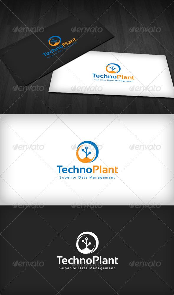Techno Plant Logo - Symbols Logo Templates