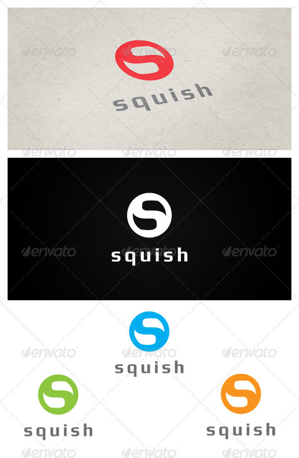 SQUISH - Letters Logo Templates