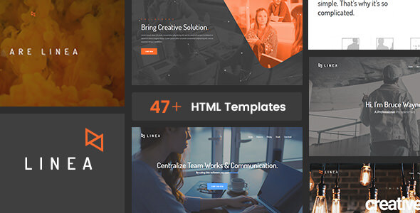 Linea Bootstrap 4.5 – Portfolio, Creative, Agency and Multipurpose Website Template