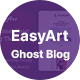 Easyart - Minimal Ghost Blog Theme