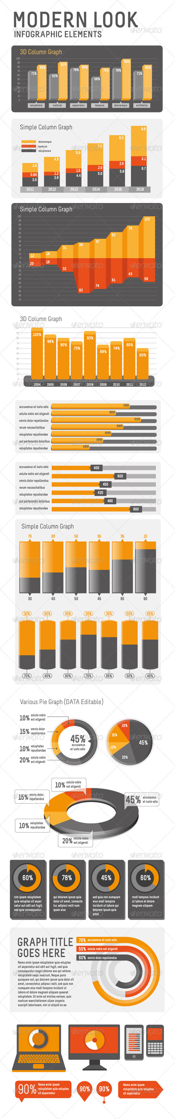 Modern look Infographic Elements - Business Conceptual