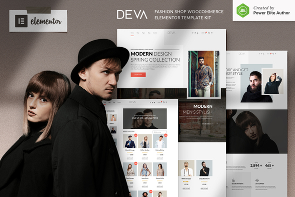 DEVA - Fashion Store WooCommerce Elementor Template Kit