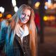 Beautiful girl walking in the city at night - PhotoDune Item for Sale