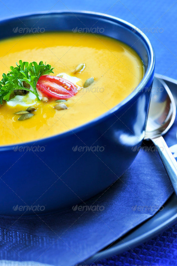 Pumpkin Or Squash Soup - Stock Photo - Images