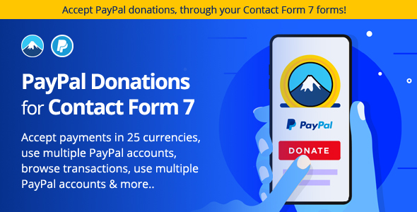Download PayPal Donation plugin for Contact Form 7 Free Nulled