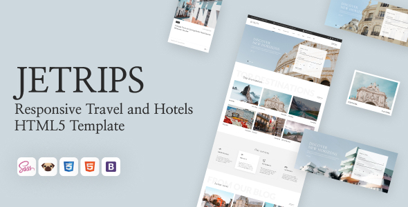 Jetrips - Responsive Travel and Hotels HTML5 Template