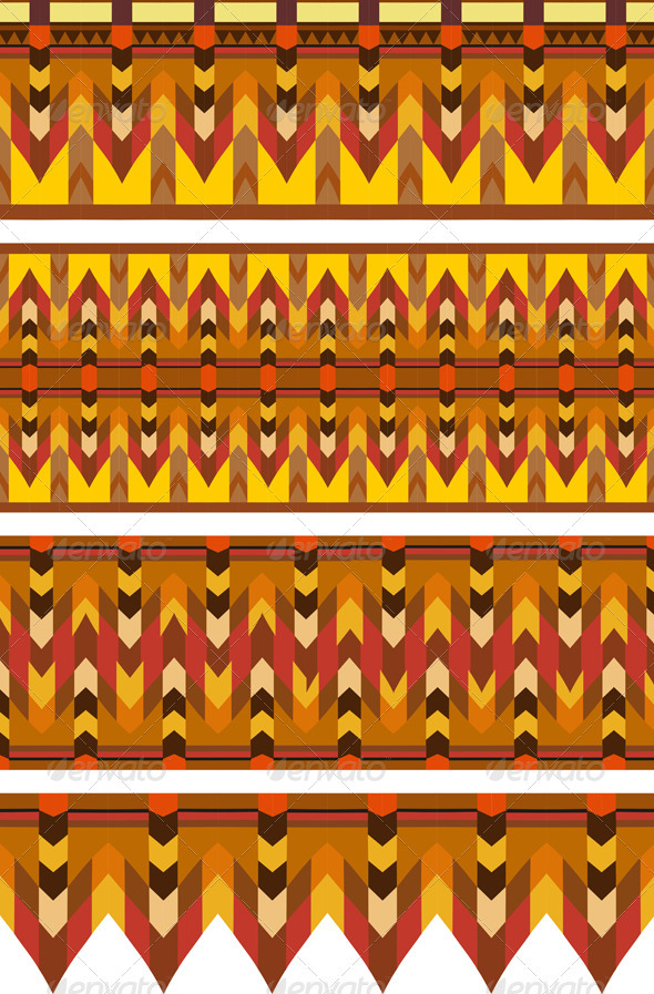Ethnic Pattern Stripe Set - Patterns Decorative