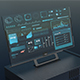 Futuristic  HUD Background Infographic Technology Interface