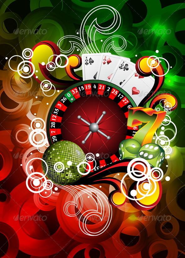 Vector illustration on a casino theme. - Miscellaneous Conceptual