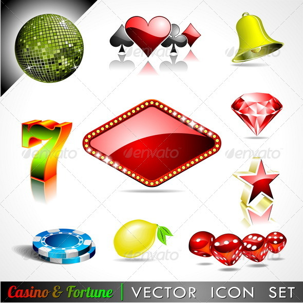 Vector icon collection on a casino theme. - Miscellaneous Conceptual