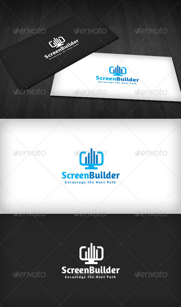 Screen Builder Logo - Buildings Logo Templates