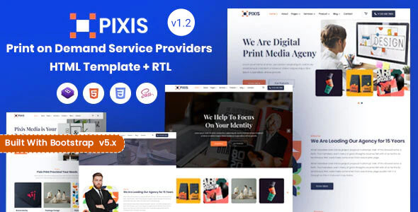 Special Pixis - Print on Demand Service Providers Template